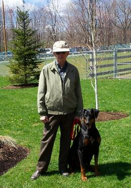 Don Eddy and Laddie travelled all the way from NJ to get help with their dog obedience problems